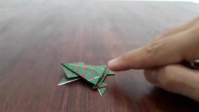 آموزش اوریگامی های جالب اموزش اوریگامی قورباغه 1