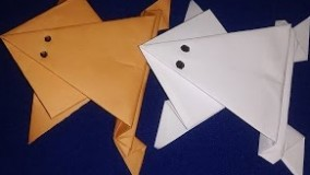 آموزش اوریگامی حیوانات سه بعدی اموزش اوریگامی قورباغه 6