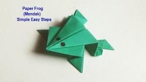 آموزش اوریگامی حیوانات سه بعدی اموزش اوریگامی قورباغه 12