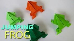 آموزش اوریگامی قورباغه پرشی-آموزش اوریگامی حیوانات متحرک