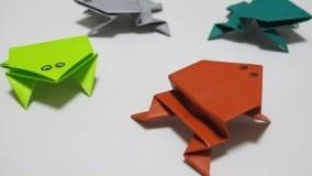 آموزش اوریگامی قورباغه-آموزش اوریگامی ساده برای کودکان