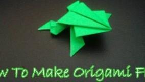 آموزش اوریگامی قورباغه پرشی-آموزش اوریگامی به زبان ساده
