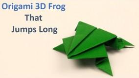 آموزش اوریگامی قورباغه پرشی-ویدیو های اوریگامی سه بعدی