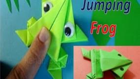آموزش اوریگامی حیوانات سه بعدی اموزش اوریگامی قورباغه 2