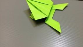 اموزش اوریگامی قورباغه-ویدیو های اوریگامی 6