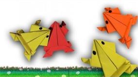 آموزش اوریگامی های جالب اموزش اوریگامی قورباغه 7