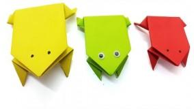 آموزش اوریگامی حیوانات سه بعدی اموزش اوریگامی قورباغه 9