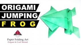 آموزش اوریگامی حیوانات سه بعدی اموزش اوریگامی قورباغه 1