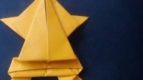 آموزش اوریگامی حیوانات سه بعدی اموزش اوریگامی قورباغه 14