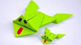 آموزش اوریگامی های جالب اموزش اوریگامی قورباغه 8