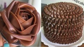 تزیین-آموزش تزیین کیک- با شکلات