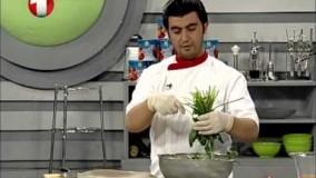 آشپزی ساده  - برنج سویا با مرغ تنوری-4-