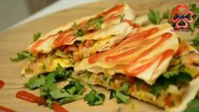 آشپزی آسان-آموزش طرز تهیه کسادیا سبزیجات
