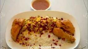 آشپزی ایرانی---زرشک پلو با مرغ مجلسی