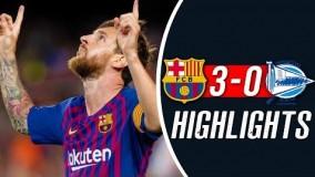 خلاصه بازی بارسلونا 3 0 آلاوز هفته اول لالیگا