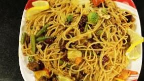 آشپزی مدرن--اسپاگتی با کوفته قلقلی