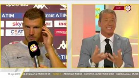 Intervista ed immagini eurogol Edin Dzeko post partita Torino-Roma 0-1