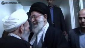 حضور مقام معظم رهبری در منزل حضرت آیت الله مجتبی تهرانی