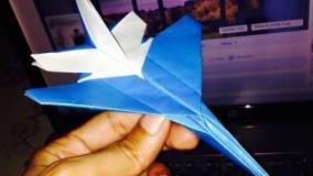 آموزش اوریگامی ویدیو اوریگامی هواپیما اف شانزده