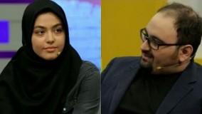 ریحانه پارسا، بازیگر نقش لیلا در سریال پدر مهمان برنامه ایرانیوم .