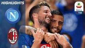 خلاصه بازی ناپولی 3 2 میلان هفته دوم سری آ ایتالیا