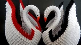 3d origami swan tutorial |  DIY Paper Crafts Swan