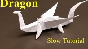 Easy Origami Dragon - How t e an Easy Origami Dragon Slow Tutorial