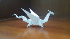 Origami Easy  Dragon - How To Make a paper dragon