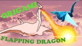 How to Make an Origami Flapping DRAGON! - Rob's World