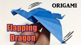 Flapping Dragon Origami Easy but Cool | How to Make a Paper Flapping Dragon | Origami Toy for kids