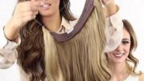 کلیپ آموزش فیکس کردن اکستنشن تلی مو روی سر