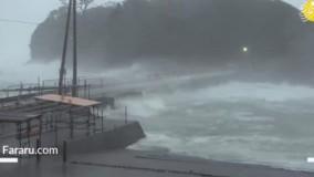سهمگینترین توفان ۶۰ سال اخیر در ژاپن