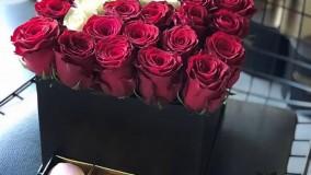جعبه گل رز با طرح حروف انگلیسی