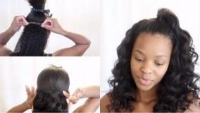 کلیپ دو مدل مو با اکستنشن مو + آموزش صاف و فر کردن موی مصنوعی