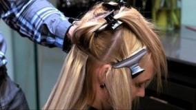 فیلم آموزش گام به گام اکستنشن چسبی مو