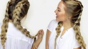 کلیپ آموزش بافت مو با اکستنشن مو + پر حجم کردن مو