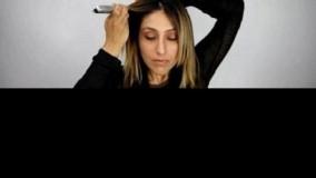 کلیپ آرایش مو کوتاه + بلند کردن مو با اکستنشن