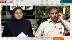 سقوط مرگبار جرثقیل در اتوبان بسیجِِِ تهران