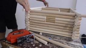 ساختن خانه چوبی