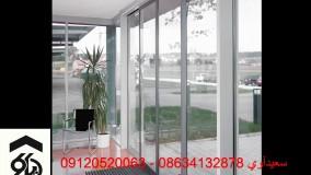نصب درب اتوماتیک شیشه ای درب شیشه ای درب شیشه ای ریلی در دیاکو