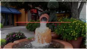 آبشار زیبای کوچک مخصوص قهوه خانه