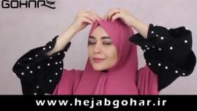 دو مدل بستن شال - تولیدی حجاب گوهر