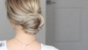 فیلم آموزش آرایش مو در خانه + شینیون ساده مو