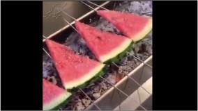 یک صبحانه متفاوت تابستونی-طرز تهیه کباب هندوانه
