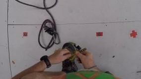 ویدیو جالب از کار در ارتفاع استادیوم