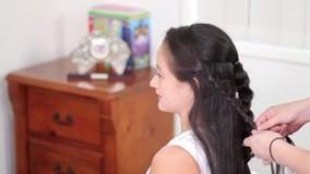 کلیپ آموزش شینیون باز مو با بافت + بافت مو مدل گل