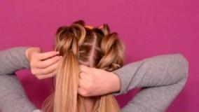 فیلم آموزش بافت خرگوشی مو از جلو سر + بافت شل مو