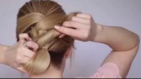 کلیپ خودآرایی مجلسی مو + شینیون مو زیبا