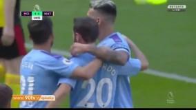 خلاصه لیگ برتر انگلیس: منچسترسیتی 8-0 واتفورد (هتریک برناردو سیلوا)