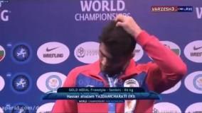 مراسم اهدای مدال طلای حسن یزدانی